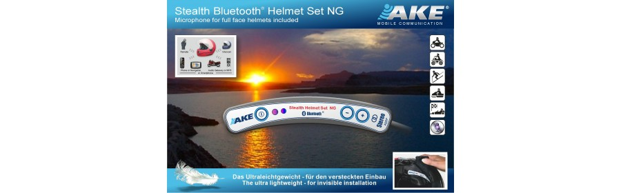 AKE Stealth Bluetooth Helmet Set NG